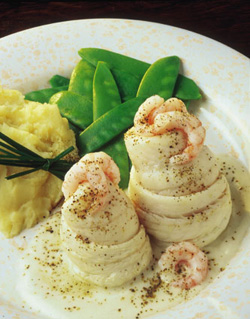Recipe for Baked Lemon Sole and Prawns