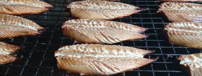 Freshly smoked Mackerel from Alex Spink and Sons